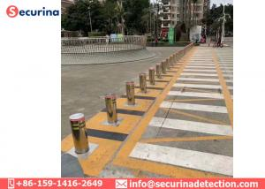 China 304 Stainless Steel Hydraulic Automatic Parking Rising Bollards Car Park Security Bollards on sale