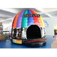 4mH 5m Dia Musical Inflatable Air Bouncer / Inflatable Dome Disco Jumping Area