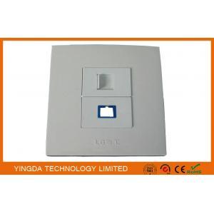 China Flame Retardant Network RJ45 Optical Fiber Cable Outlet , Wall Socket Panel SC on sale