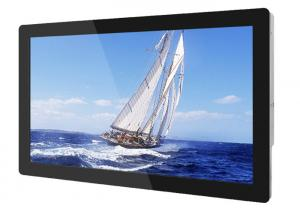 China Metal Shell 32 Inch LCD Advertising Player Full HD Sunlight Readable Thin Flat Screen on sale