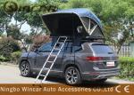 Black Hard Shell Roof Top Tent Hardtop / Vehicle Pop Up Tents With One Side Open