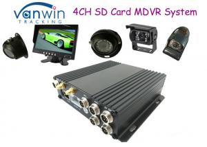 China Black Box HD 4CH SD Card Mobile DVR Support 256GB, Dual SD Card Slots on sale