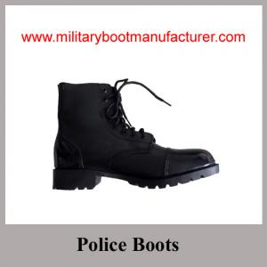 China Wholesale China Made Black Full Grain Leather Ankle Combat Boot supplier