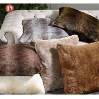 China Faux Fur Pillows Cover Cushion Case Natural Color Tag For Home Decor on sale