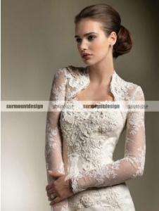 China CH1926 Beautiful sweetheart mermaid Floor Length Wedding Dress with long sleeve jacket on sale