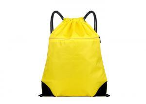 China 210d Polyester Drawstring Bag , Custom Drawstring Backpack Multi - Function on sale