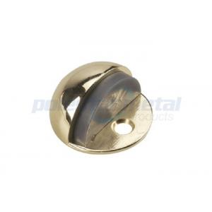 China Polished Brass Decorative Door Hardware Low Profile Commercial Door Stop 1 on sale
