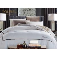 Customized Hotel Quality Bed Linen King Size 330TC 100% Cotton Plain Satin Stripe