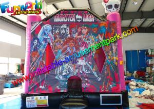 China Monster High Themed Bounce House ,  Inflatable Bouncy House for Commercial on sale