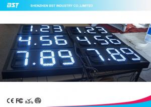 China White 8 Inch 7 Segment Led Display Gas Station Price Signs For Retail on sale
