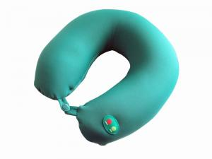 China Vibrating Neck Electric Massage Pillow Green / Blue For Blood Circulation on sale