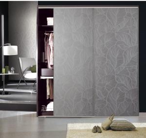 China CY-KW510F Plate Type Particle Board Interior Wardrobe Sliding Door, Aluminum Frame Panel Closet Door Factory on sale