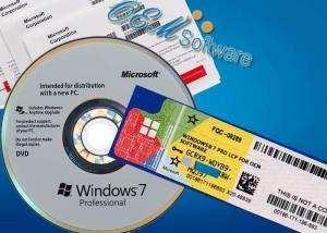 China Software Windows 7 Professional Box Win7 Pro Oem License Activation Key on sale