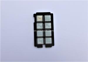 China Control System Plastic Rubber Keypad Abrasion Resistance ROHS SGS Approval on sale