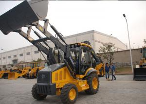 China Professional Tractor Loader Backhoe With 4 In 1 Bucket / Hydraulic Hammer on sale