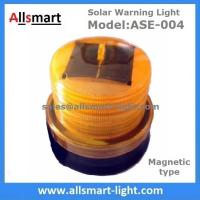 4LED Amber Yellow Color Solar Powered Magnetic Flashing Beacon Floating Barrel Lights Buoy Signal Lights Offshore Lights