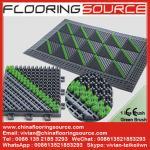 屋外の頑丈なスクレーパーの床のマットのブラシのマット停止土の下水管水ロゴのマット