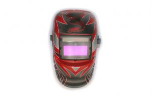 China colorful Auto-darkening Welding Helmet PP Fire Resistant With led on sale