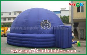 China Blue 7m DIA Inflatable Planetarium Dome Durable Architecture Projection Tent on sale