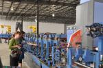Tubo poco aleado que forma la máquina para la producción cuadrada 100 m/minuto del tubo