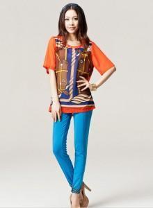 China Plus Size Clothing Fashion Polka DOT Elastic Pencil Pants on sale