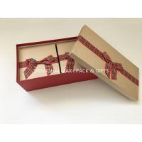 China Fancy Empty Xmas Gift Boxes With Ribbon Bow Tied , Candy Christmas Gift Wrap Boxes on sale