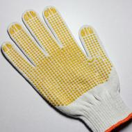 China cotton knitted work gloves on sale