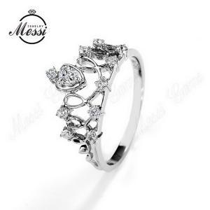 China 18k gold jewelry gemstone jewelry diamond moissanite ring on sale