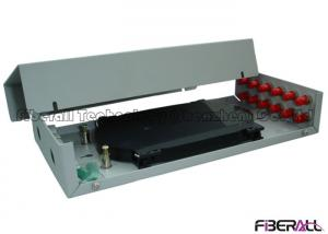 China RoHS Light Weight Wall Mounted Fiber Optic Terminal Box With ST Adapter 12 Fibers on sale