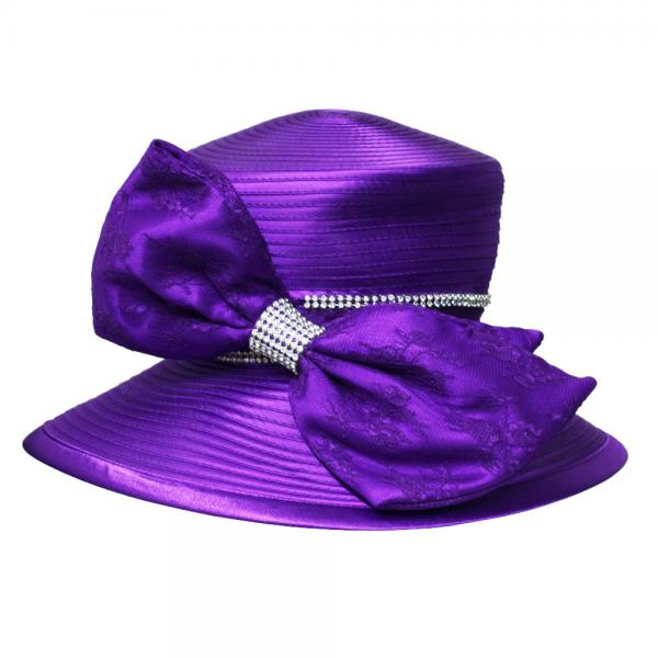 938687b134a4e Lace Covered Big Bow Satin Braid Ladies  Church Hats