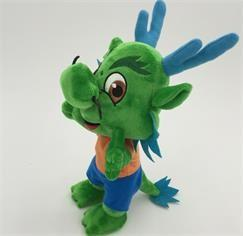 China Stuffed Plush Toys Cartoon Character dragon in green OEM ODM service on sale