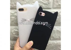 China Cute cartoon animal cat image silicone phone case supply iPhone phone cover wholesale girls promo gifts phone shell on sale