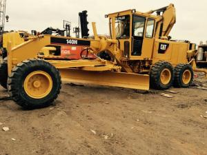 China Used Caterpillar 140 motor grader CAT 140H grader with ripper on sale