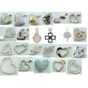 China 925 sterling silver pendant, manufacture heart shape pendant on sale