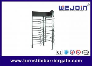 China Exhibition Stainless Steel Access Control Turnstile Gate Standard RS485 on sale