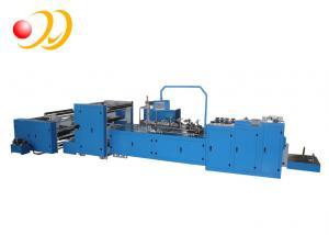 China Alta velocidade da máquina do saco de papel do alimento da tela de toque do PLC com parte inferior lisa on sale