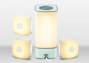 China Fireproof ABS Material LED Night Lamp 5 Level Brightness Built In 500mAh Lithium Battery on sale