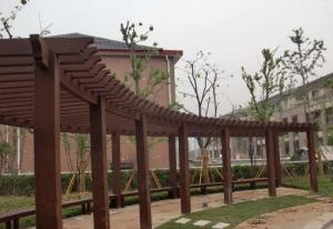 China Long Life Time Weather Resistant Pergola With Wood Composite Material on sale