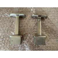 China Anti Corrosion Square 33.7mm Stainless Steel Glass Clamp on sale