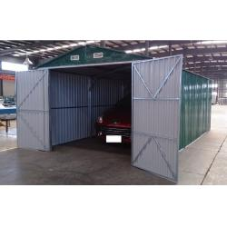 19x10 Prefab Galvanized Steel Car Garage Outdoor Apex Metal Car