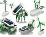 6 en 1 robot accionado solar del equipo del robot de DIY para la educación de los niños
