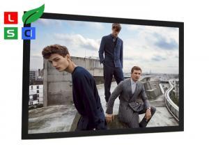 China Black Aluminum Framed LED Snap Frame Light Box 40mm Front Width For Metro Station Display on sale