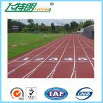 Exercise Recycled Outdoor Synthetic Rubber Flooring  Permeable Jogging Track Material