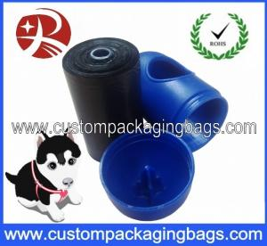 China Black Pet Waste Dog Poop Bags Oxo-biodegradable With Blue Dispenser on sale