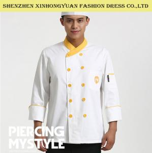 China Restaurant Double - Breasted Long Sleeve Executive Chef Coats For Men on sale