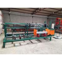Double Wire  Chain Link Fence Equipment , PLC Control Chain Link Weaving Machine For Fence