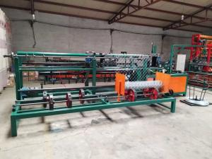 China Double Wire  Chain Link Fence Equipment , PLC Control Chain Link Weaving MachineFor Fence on sale