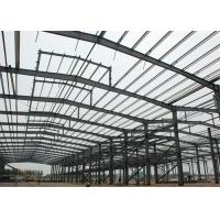 China Lightweight Steel Frame Construction , Free Designs Prefabricated Metal Buildings on sale