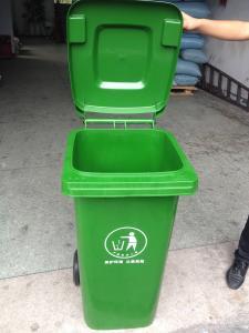 China hot 120L two wheeled bin plastic dustbin plastic garbage bin 120L on sale