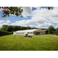 Outdoor Round Wedding Tent With Lining Decoration / Marquee Event Tent